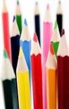 3 nya blyertspennor för färg Royaltyfri Fotografi
