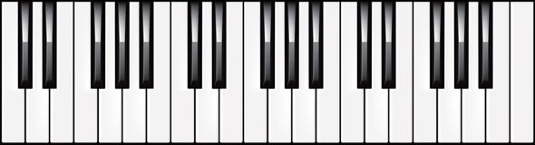 3-octave piano keyboard illustration Royalty Free Stock Image