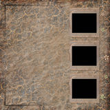3 Old paper frame on grunge background. In scrapbooking style Stock Photos