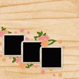 3 Old paper frame on grunge background. In scrap-booking style Stock Photos