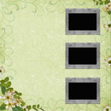 3 Old paper frame on grunge background. In scrap-booking style Stock Images