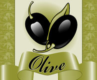 3 olive etiketter Arkivbilder
