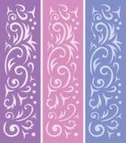 3 ornamental backgrounds vector illustration