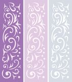 3 ornamental backgrounds Royalty Free Stock Photography