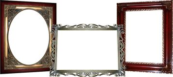3 Ornate Frames Royalty Free Stock Image
