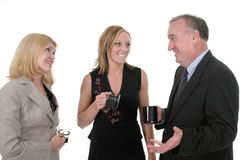 3 osobę drużyna trzecia przedsiębiorstw Fotografia Stock