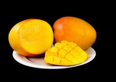 3 owoce mango Zdjęcia Royalty Free