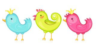 3 pájaros Foto de archivo