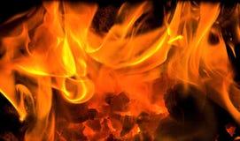 3 płonącego embers obraz royalty free