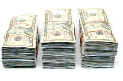 3 pacotes de nota de banco Imagens de Stock