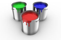 3 paint can Royalty Free Stock Photos