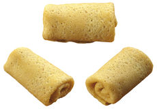 3 pancake accorciati da un tubo Fotografia Stock Libera da Diritti