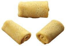 3 pannekoeken die door een buis worden ingekort Royalty-vrije Stock Fotografie