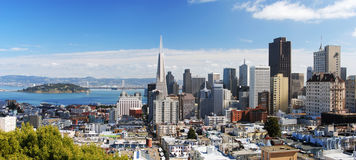 3 panorama San Francisco obrazy stock