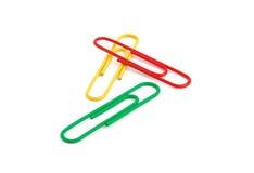 3 paperclips Стоковые Фотографии RF