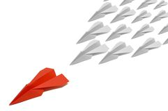 3 paperplane红色 免版税库存照片