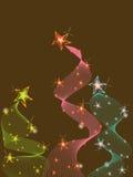 3 pastel glitter stars twist Stock Photos