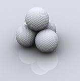 3 pelotas de golf Foto de archivo libre de regalías