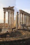 3 pergamum废墟 免版税库存图片