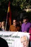 3 personer som protesterar Royaltyfri Bild