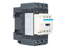 3 phase contactor on white background Stock Photography