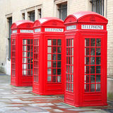 3 phone boxes Royalty Free Stock Image