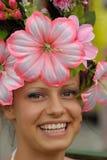 3 piękny kwiatu dziewczyny uśmiech Obrazy Royalty Free