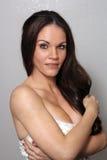 3 piękny brunetki egzota headshot Obraz Royalty Free