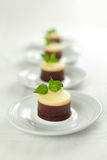 3 piec cheesecakes czekolad nie Obrazy Stock