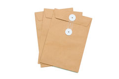 3 pieces of envelopes Royalty Free Stock Photography