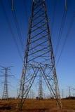 3 pilonu energii elektrycznej Obraz Royalty Free