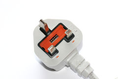 A 3 Pin Plug. A plug for use in the UK royalty free stock photo
