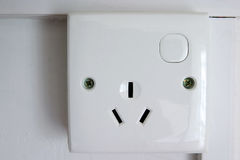 3 pin plug socket Royalty Free Stock Image