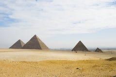 3 piramid wizyta Zdjęcia Royalty Free