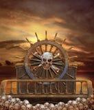 3 piratkopierar shipen royaltyfri illustrationer