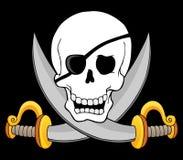 3 piratkopierar skalletema Royaltyfria Foton