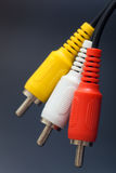 3 plastic kabel RCA Royalty-vrije Stock Afbeelding