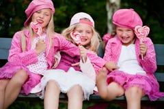 3 playfull sisters stock image