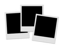 3 polaroïds Photo stock