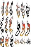 3 płomienia Zdjęcia Royalty Free