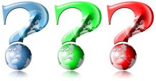 3 porque perguntas globais Fotografia de Stock Royalty Free