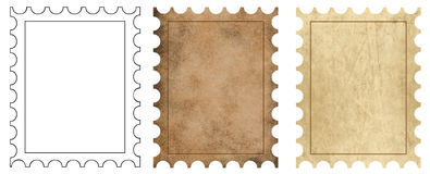 3 postage backgrounds Stock Photography