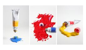 3 poster colours Stock Photos
