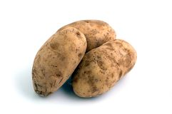 3 Potatoes Stock Photography