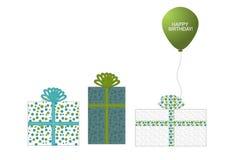3 presentes e um balão