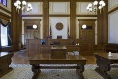 3 prośby absztyfikują sala sądową Zdjęcia Stock