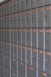 3 pudełek szara pocztę Zdjęcia Stock