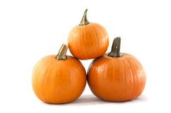 3 Pumpkins Stacked Royalty Free Stock Image