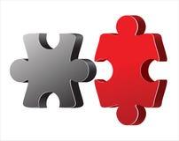3 puzzle di D Fotografie Stock