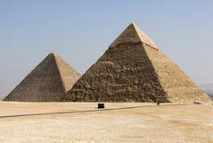 3 pyramider arkivfoton